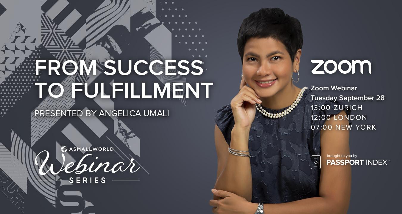 Webinar: From Success to Fulfilment