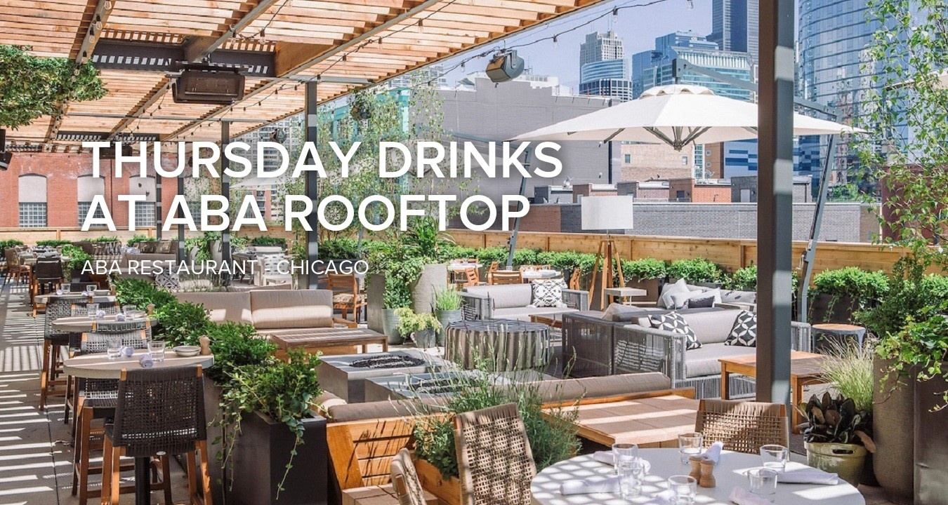 Thursday drinks at Aba Rooftop